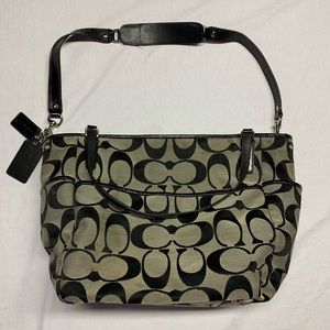 BIG Canvas Coach Tote Bag With CrossBody Strap